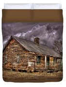 Stormy Times Tenant House Greene County Georgia Art Duvet Cover
