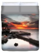 Stormy Twilight Afterglow Duvet Cover
