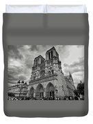 Stormy Views Of Notre-dame Duvet Cover