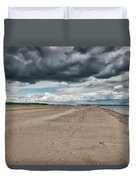 Stormy Weather Over Tentsmuir Beach In Scotland Duvet Cover