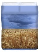 Stormy Wheat Field Duvet Cover