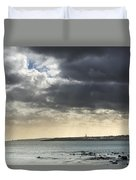 Stormy Whitley Bay Duvet Cover