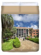 Stozier Library At Florida State University Duvet Cover
