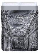 Strahov Monastery Philosophical Hall Bw Duvet Cover