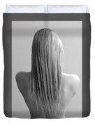 Straight Hair Duvet Cover