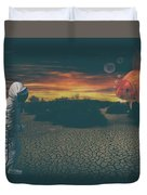 Strange Encounter Duvet Cover