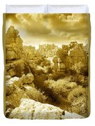 Strange Rock Formations At El Torcal Near Antequera Spain Duvet Cover