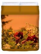 Strange Weather/flourished Flower Duvet Cover