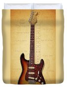 Stratocaster Illustration Duvet Cover