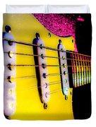 Stratocaster Pop Art Pink Fire Neck Series Duvet Cover