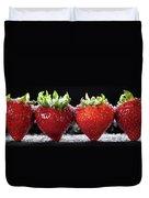 Strawberries Panorama Duvet Cover