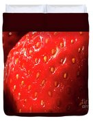 Strawberry Abstract Duvet Cover