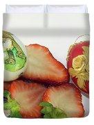 Strawberry And Easter Eggs Duvet Cover