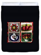 Strawberry Collage Duvet Cover