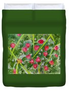 Strawberry Love Patch Duvet Cover