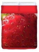 Strawberry Macro Duvet Cover
