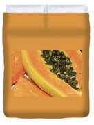 Strawberry Papaya Duvet Cover