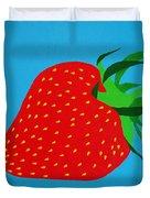 Strawberry Pop Duvet Cover by Oliver Johnston