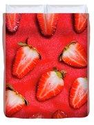 Strawberry Slice Food Still Life Duvet Cover