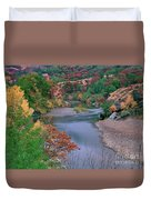 Stream And Fall Color In Central California Duvet Cover