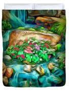 Stream In Ambiance Duvet Cover