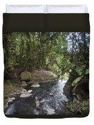 Stream In  Rainforest Duvet Cover
