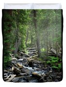 Streaming Through The Trees Duvet Cover