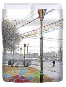 Street And Colors. Nizhny Novgorod, Sormovo. 3 May, 2015 Duvet Cover