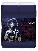Street Art - Jimmy Hendrix Duvet Cover