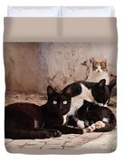 Street Cats - Portugal Duvet Cover