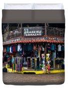 Street Commerce At Ataco Duvet Cover