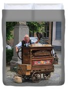 Street Entertainer In Bruges Belgium Duvet Cover