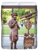 Street Entertainer - La Rambla - Barcelona Spain Duvet Cover