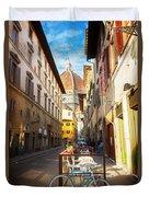Street In Florence Duvet Cover