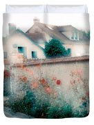 Street In Giverny, France Duvet Cover
