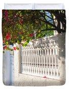 Street In Key West Duvet Cover