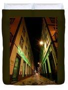 Street In Ponta Delgada Duvet Cover