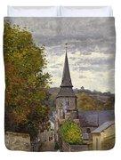 Street In Sainte Adresse Duvet Cover