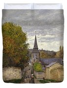 Street In Sainte Adresse Duvet Cover