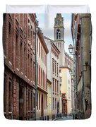 Street In Toulouse Duvet Cover