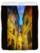 Street In Vernazza - Vintage Version Duvet Cover