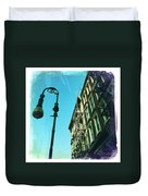 Street Lamp And Fire Escape Duvet Cover