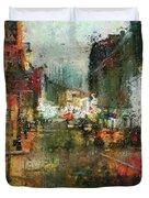 Street Night Light Duvet Cover