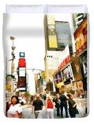 Street Of New York City Duvet Cover