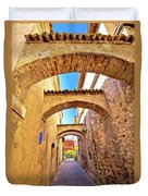 Street Of Sirmione Historic Architecture View Duvet Cover