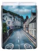 Street Of Summer Countryside Duvet Cover by Ariadna De Raadt