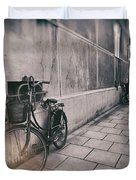 Street Photo Bicycle Duvet Cover
