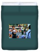 Street Photography Nyc Paint  Duvet Cover