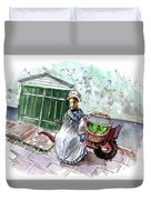 Street Seller In Helsingor Duvet Cover