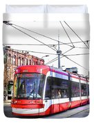 Streetcar On Spadina Avenue #17 Duvet Cover